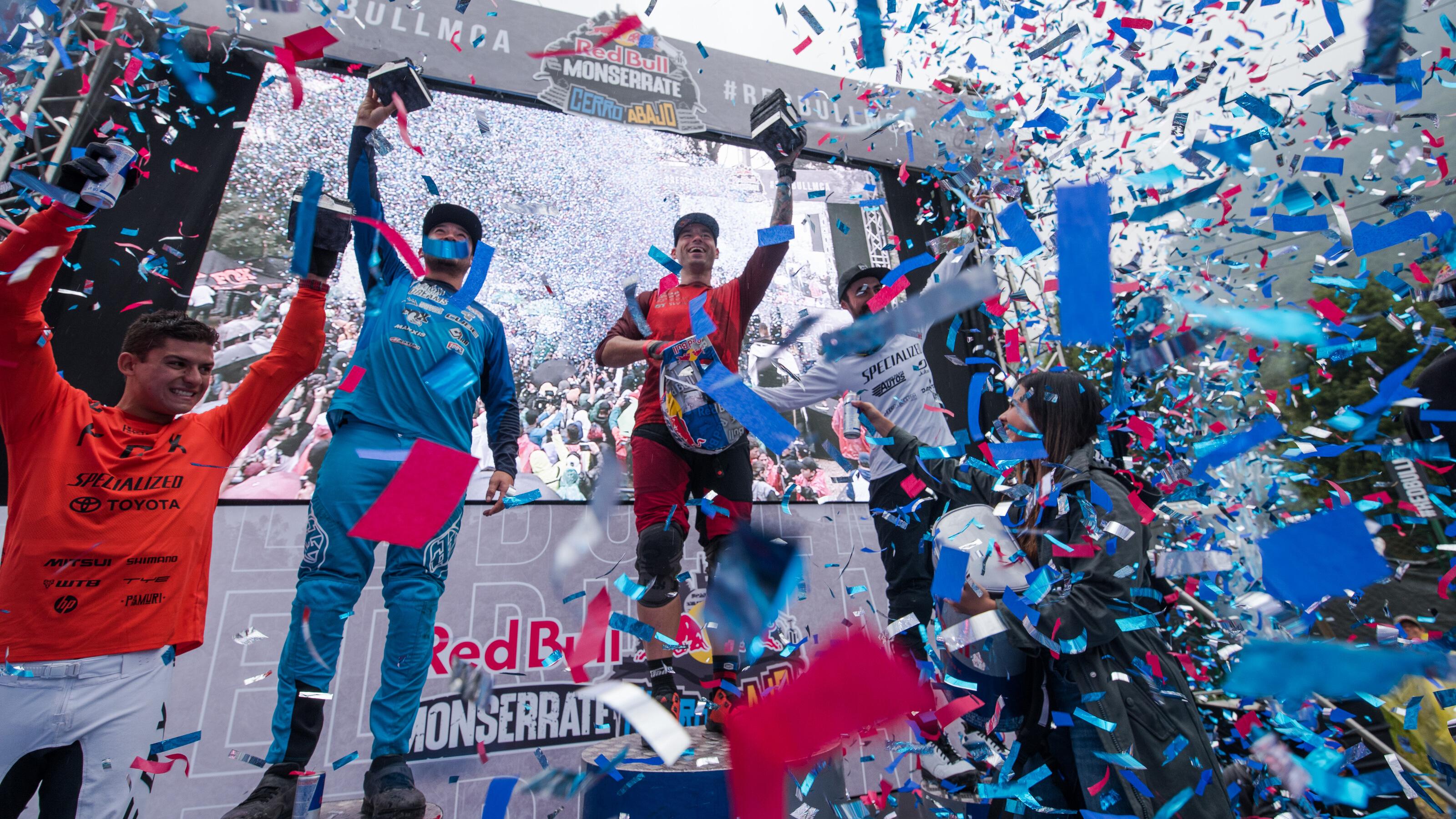 Tres grandes estrellas del Red Bull Monserrate Cerro Abajo