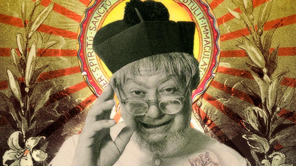 Imagen de Carlos Muñoz interpretando al padre Pío V Quintero en la serie colombiana San Tropel.
