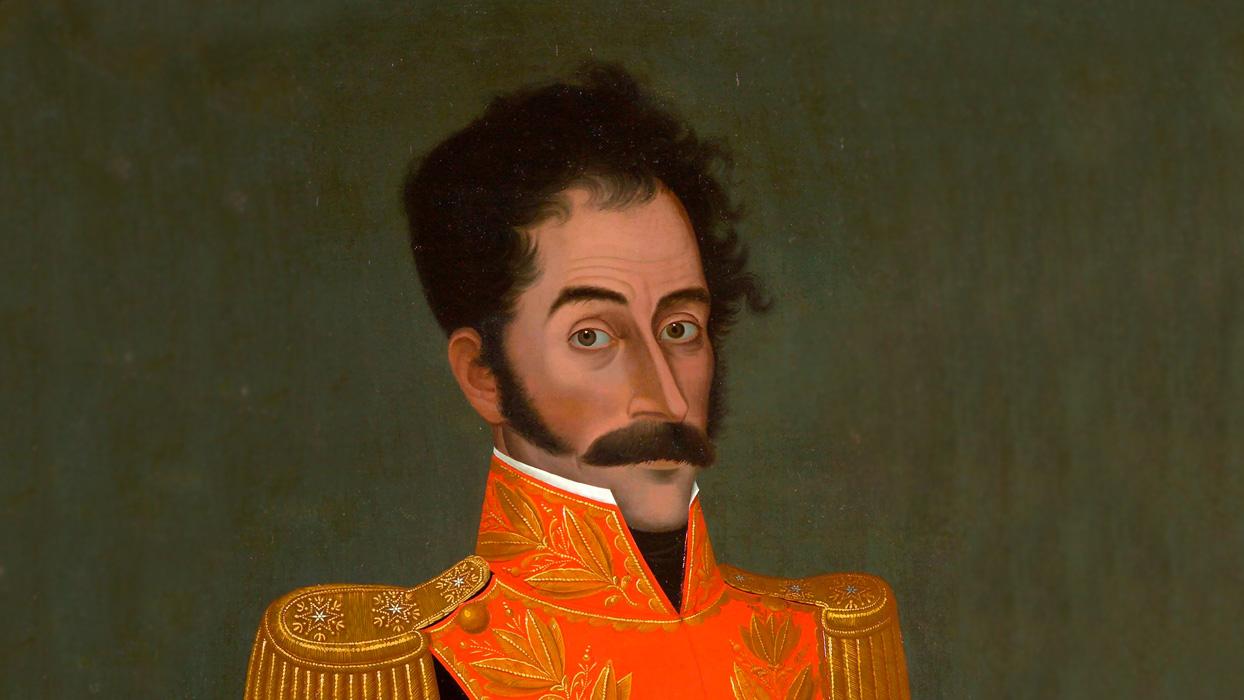 Retrato de Simón Bolívar por José Gil de Castro.