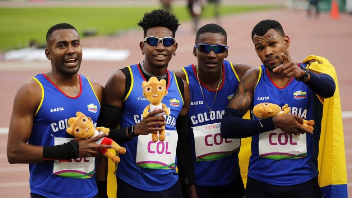 Equipo Colombia 4x400 Juegos Panamericanos