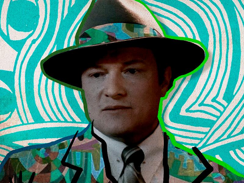 Un hombre con sombrero personaje de la serie La huella de la infancia
