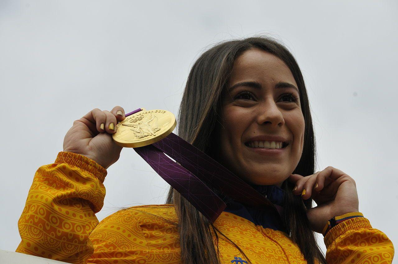 Mariana Pajón, bicicrosista colombiana.