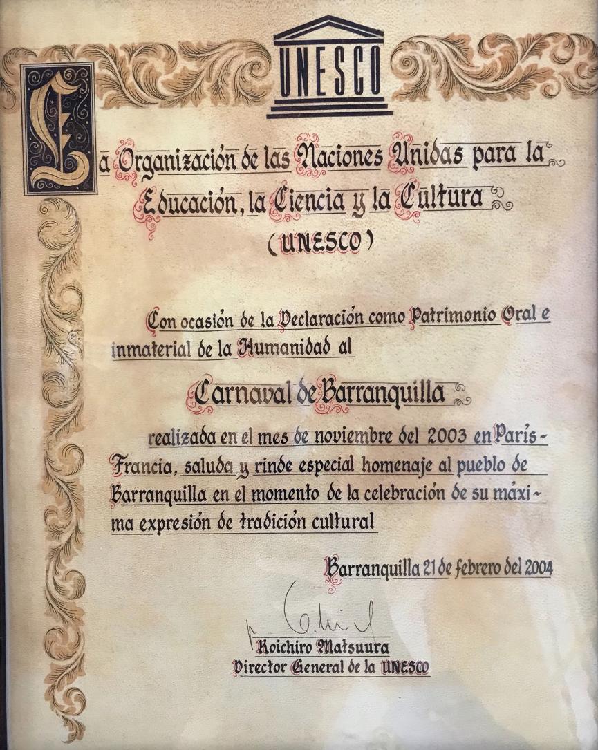 Carnaval De Barranquilla Obra Maestra Del Patrimonio Oral E Intangible De La Humanidad Señal Colombia