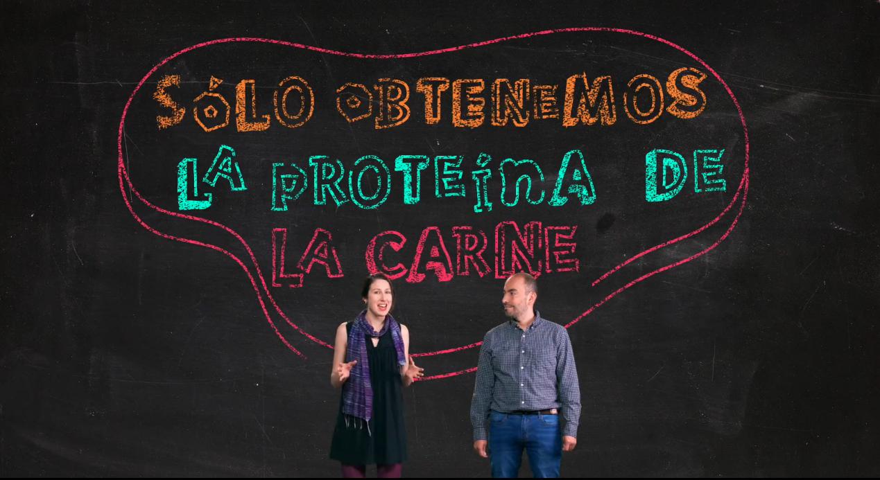 Cait May y Carlos Guarnizo, presentadores de Embusters de Minciencias Colombia