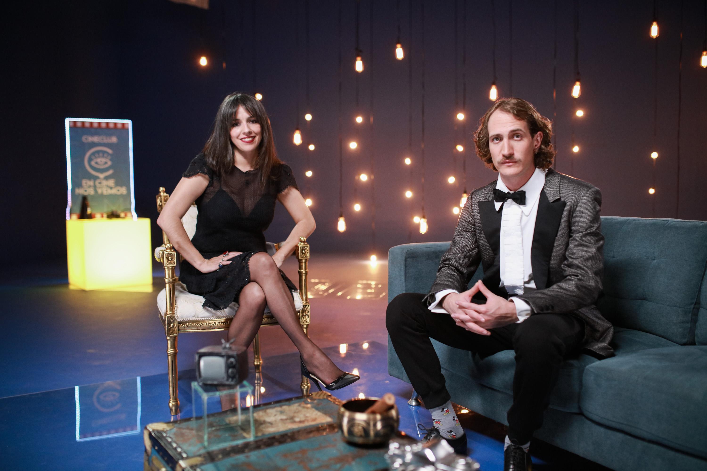 Diana Rico y Ernesto Vientos, presentadores de Cine Club En Cine Nos Vemos 2