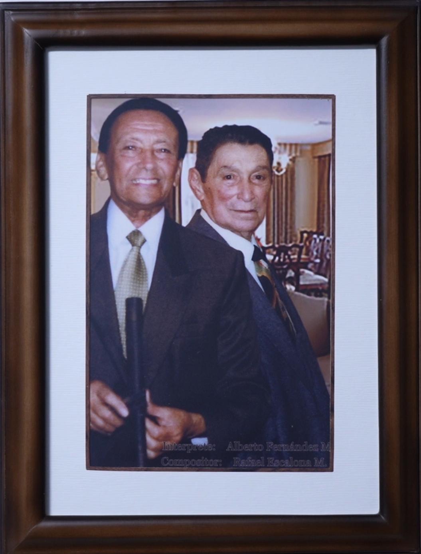 Alberto Fernández Mindiola y Rafael escalona retrato documental padre vallenato