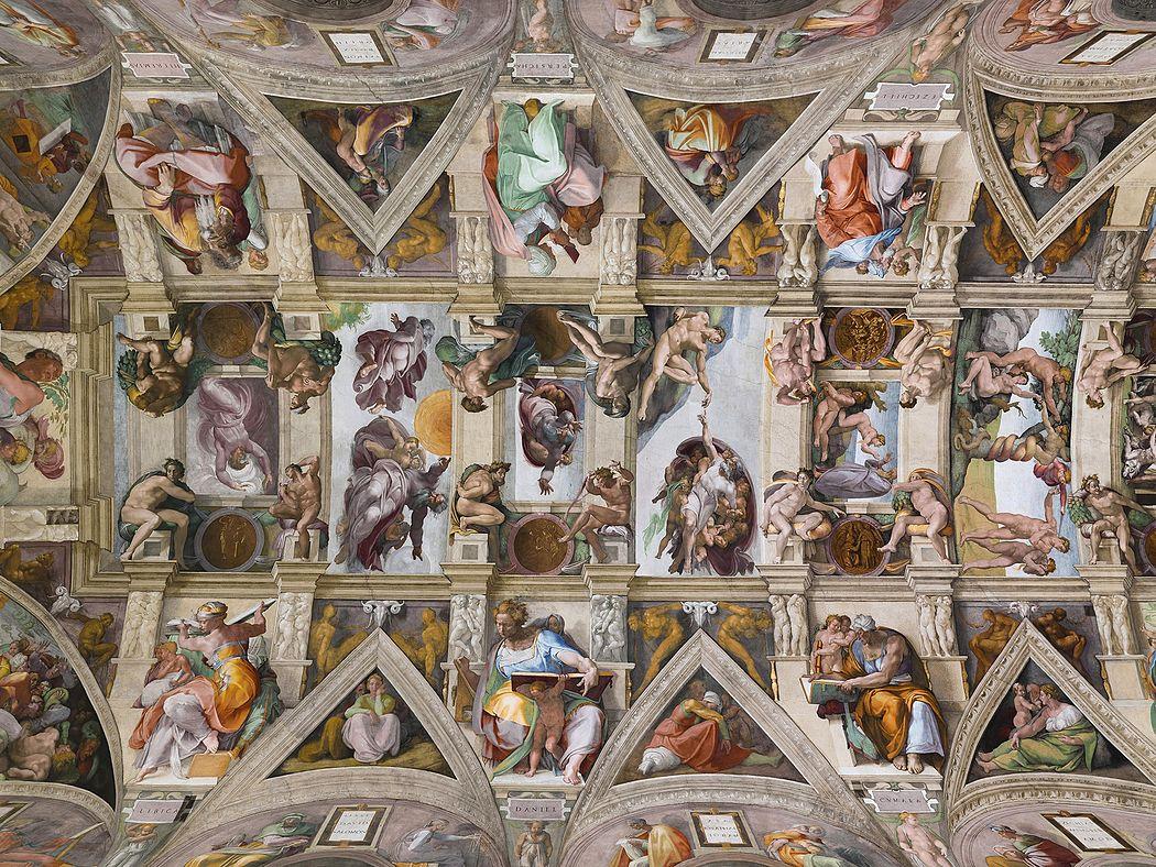 Imagen del interior de la Capilla Sixtina. Fuente: Wikipedia.