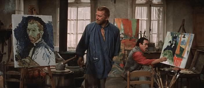 Anthony Quinn en la película 'El loco del pelo rojo' (1956)