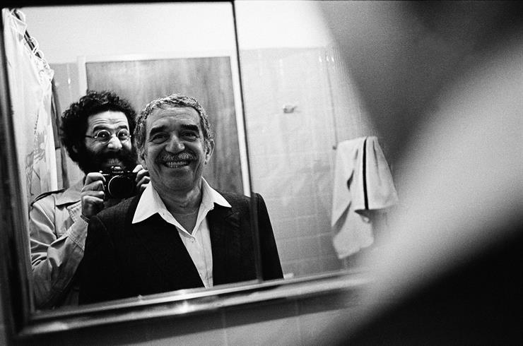 """Vasco Szinetar y Gabriel García Márquez, de la serie """"Frente al espejo""""."""