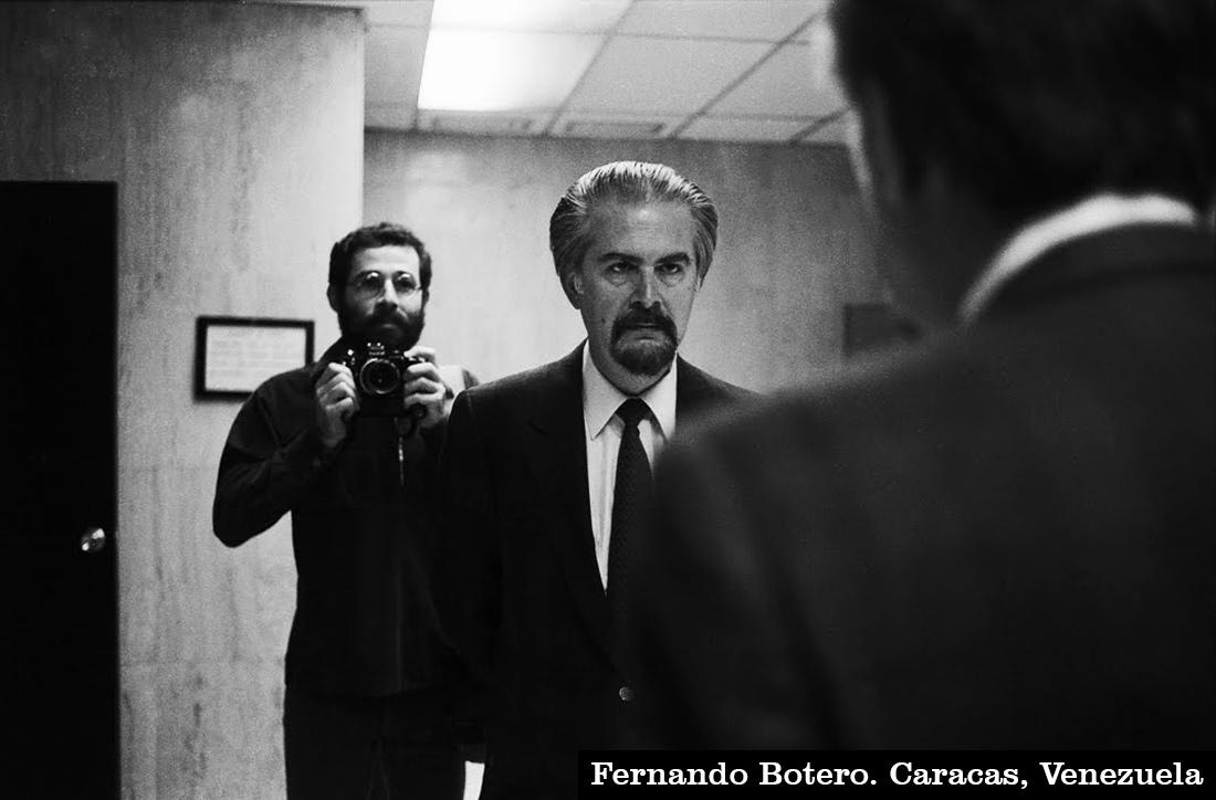 """Vasco Szinetar y Fernando Botero, de la serie """"Frente al espejo""""."""