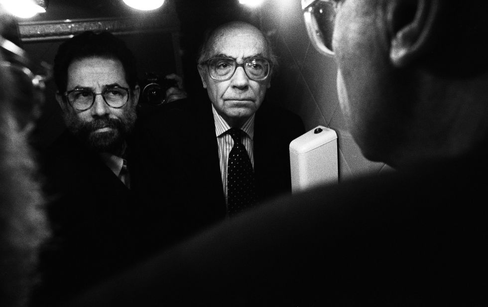 Vasco Szinetar y José Saramago, de la serie Frente al espejo.