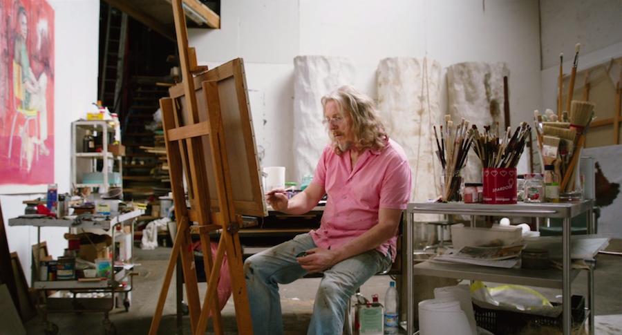 Wolfgang Beltracchi en su estudio.