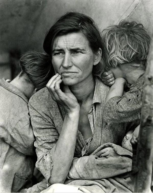 Retrato realizado por Dorothea Lange.