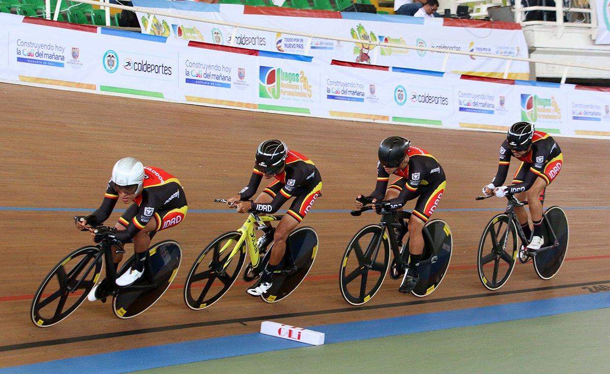 Ciclistas de pista en Juegos Deportivos Nacionales