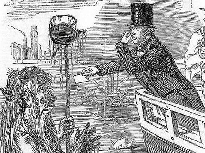 representación pictórica del gran hedor de Londres