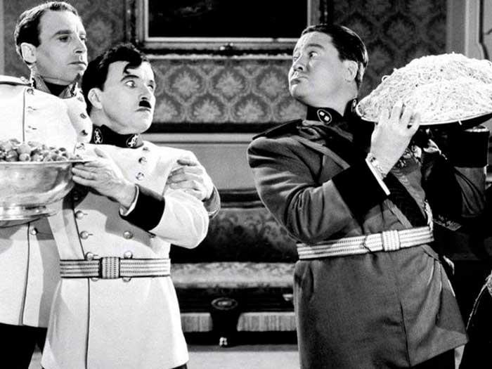 Charles Chaplin en el Gran dictador