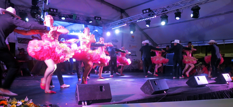 Bailarines de la  Corporación Artística El Repique