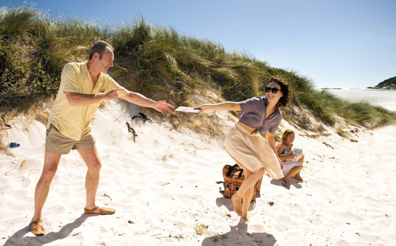 Pareja en un día de playa