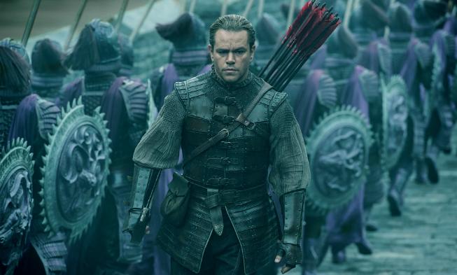 Matt Damon en el papel principal de la gran muralla de Yimou Zhang