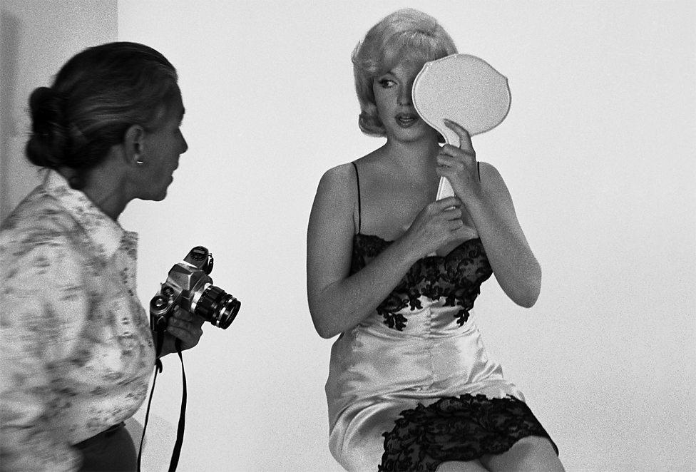 Marilyn Monroe en sesión de fotos