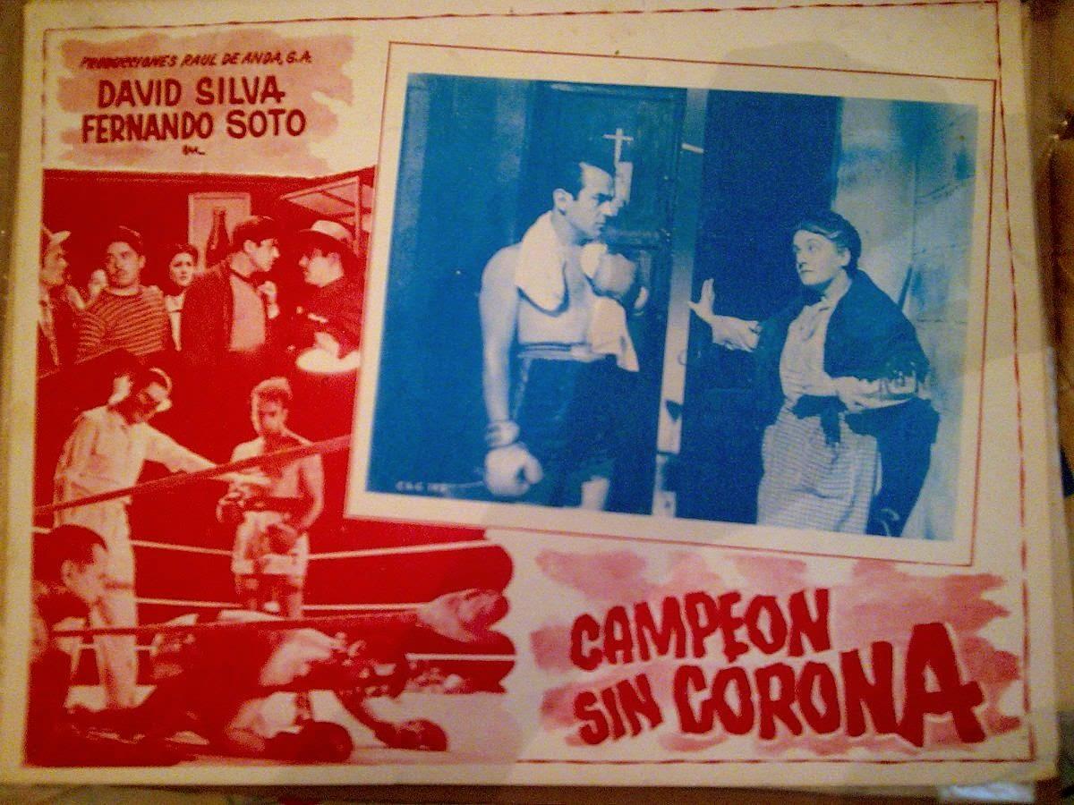 """Póster promocional de """"Campeón sin corona"""" (1945) de Alejandro Galindo."""
