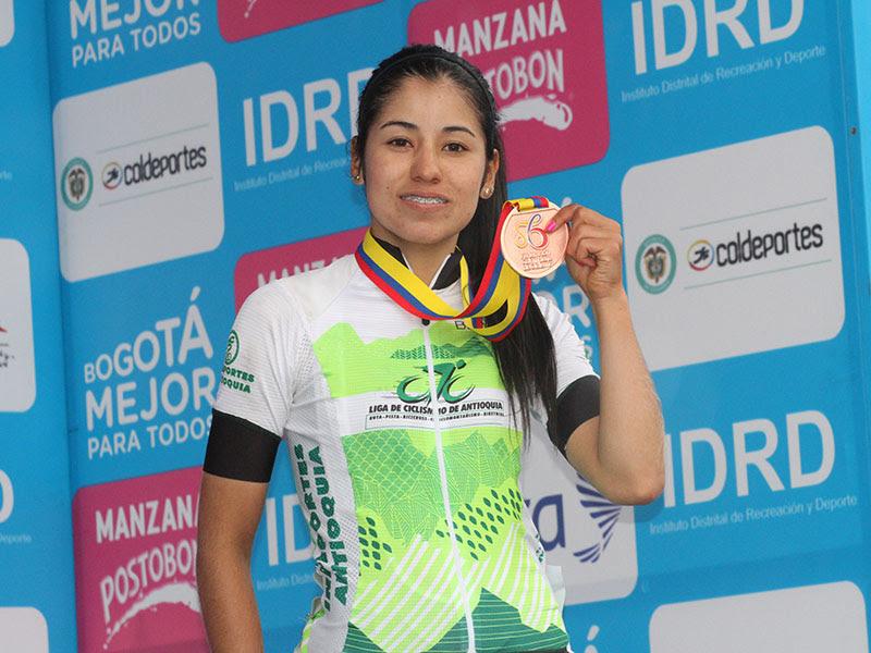 Paula Patiño, ciclista colombiana / Federación Colombiana de Ciclismo