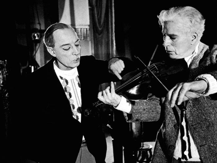 Candilejas película 1952 Chaplin Keaton en escena