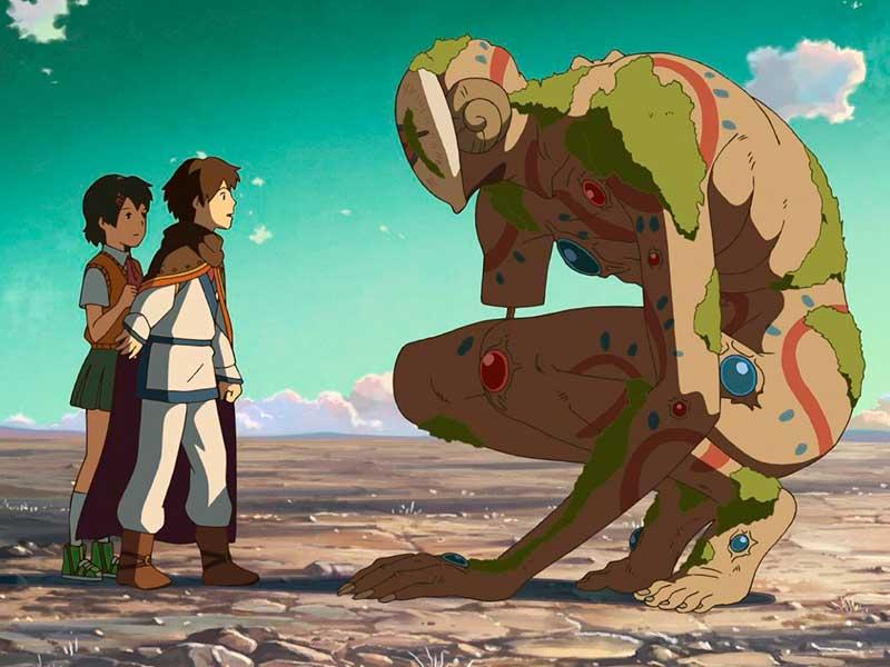 Dos niños se encuentran a un monstruo misterioso en la película Viaje a Agartha