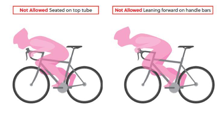 La UCI prohíbe varias posturas en el ciclismo de ruta