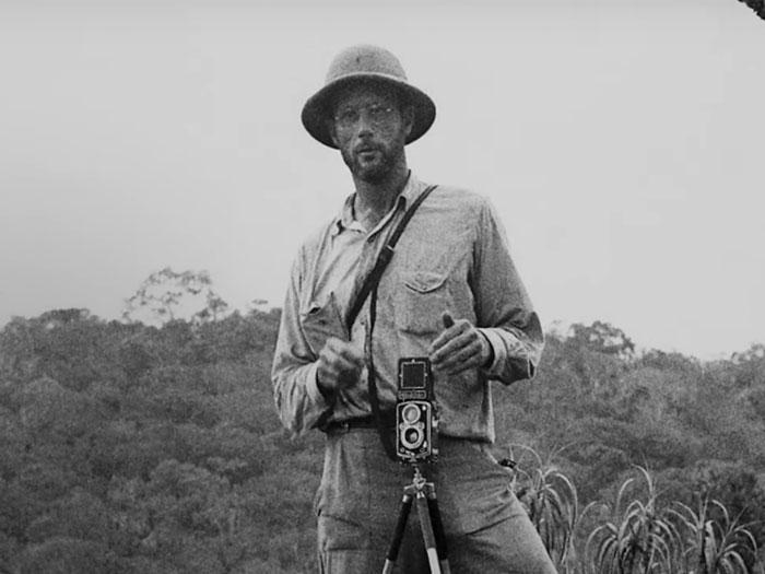 Evan Schultes en el sendero de la anaconda
