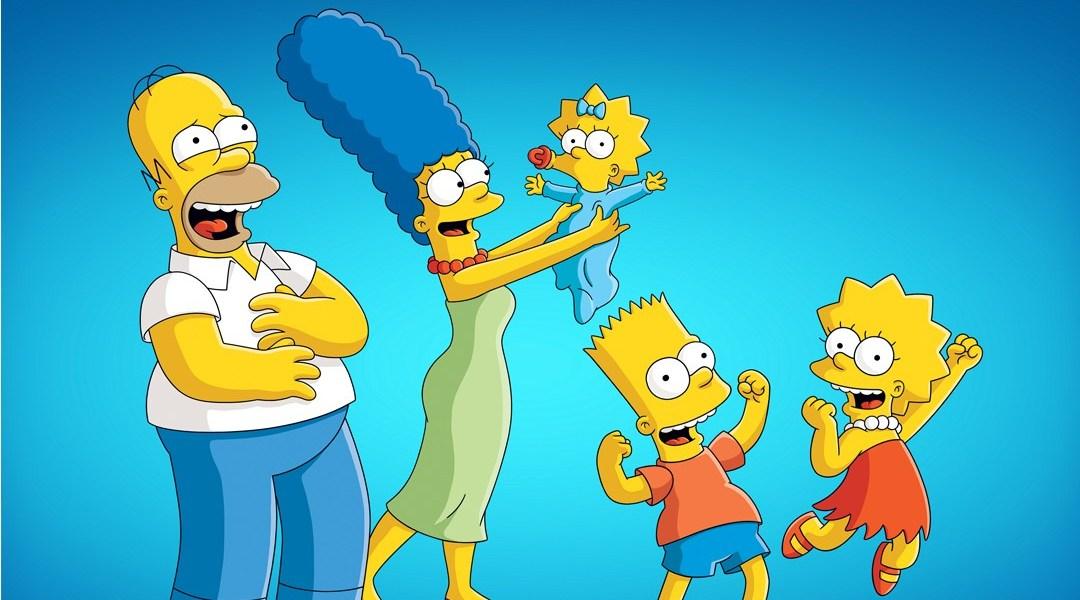 Simpsons familia en la televisión señal colombia