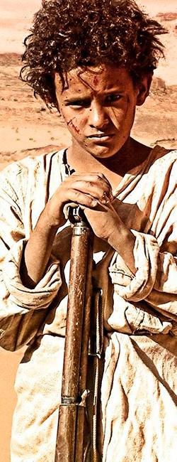 Imagen del Theeb, niño en el desierto
