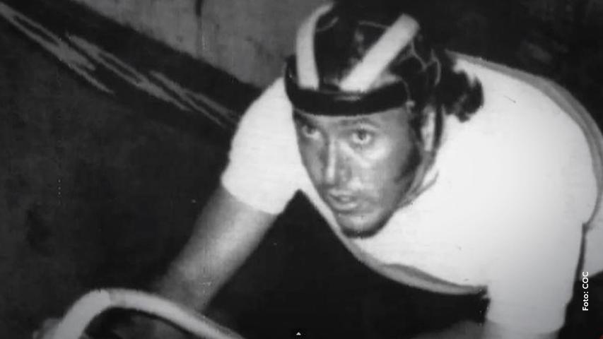 """Martín Emilio """"Cochise"""" Rodríguez, exciclista colombiano."""