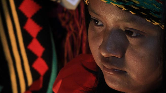 rostro de una niña Wayuu