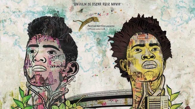 Imagen de la película colombiana Los Hongos, dos jóvenes en Cali
