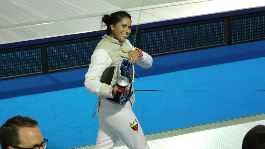 Saskia Loretta Van Erven García, esgrimista colombiana / Comité Olímpico Colombiano
