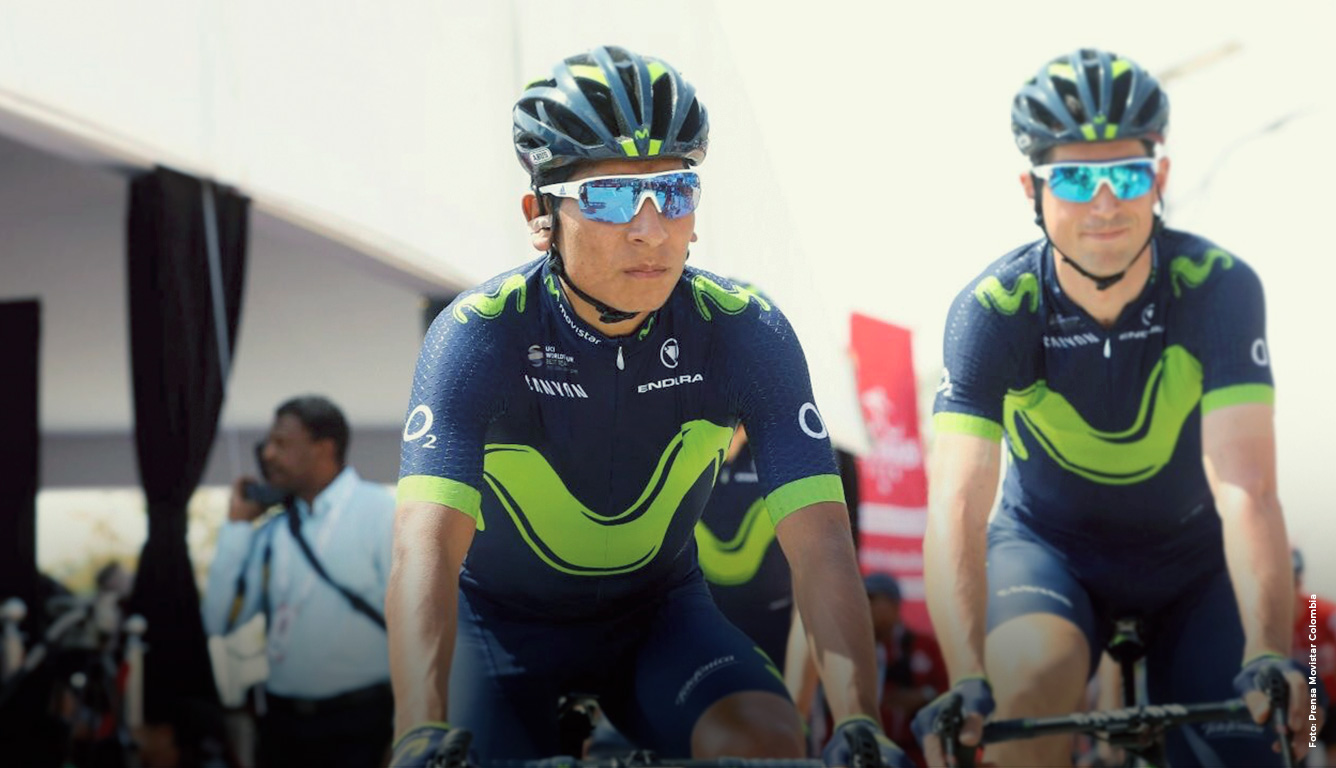 nairo y el movistar team