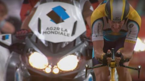 """Lance Armstrong en """"La mentira de Armstrong""""."""