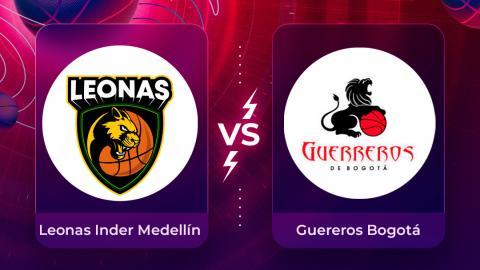 Mira en vivo el partido Leonas INDER Medellín Vs. Guerreros Bogotá por la Liga Superior de Baloncesto Femenino 2020