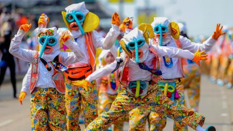 Marimondas en el Carnaval de Barranquilla