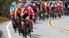 Un día de caídas y polémica en el Tour de California / Twitter EF Education First