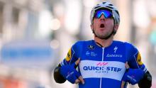 Elia Viviani ganó la primera etapa en final con sprint