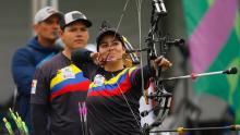 Sara López, campeona panamericana en arco compuesto.