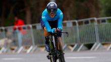Carlos Betancur durante la crono del Giro de Italia 2018