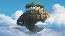 Castillo volador en la película el Castillo volador de Miyazaki
