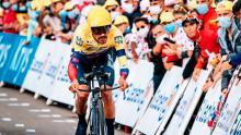 Daniel Martínez ganó su primera carrera con una bicicleta prestada / Instagram Daniel Felipe Martínez