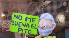 Personaje sosteniendo letrero de protesta