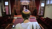 Líder judío en ceremonia