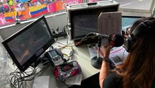 Goga narrando el Giro de Italia 2018