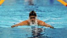 Nadador colombiano Jorge La Trucha Murillo